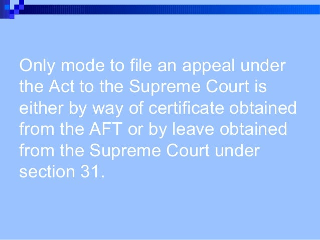 application for leave to appeal scc