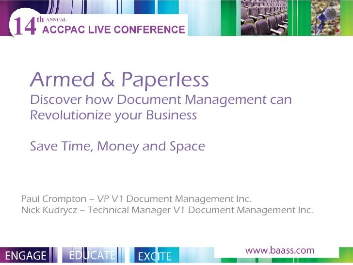 Armed & Paperless Discover how Document Management can Revolutionize your Business Save Time, Money and Space Paul Crompto...