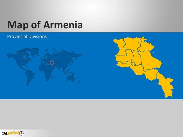 Map of Armenia Provincial Divisions