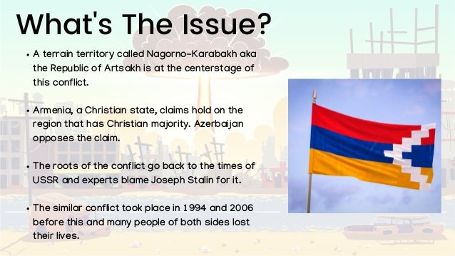 What's The Issue? A terrain territory called Nagorno-Karabakh aka the Republic of Artsakh is at the centerstage of this co...