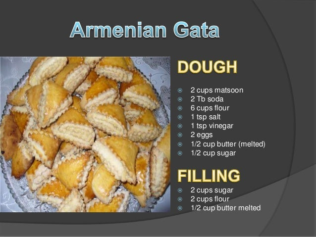 National dishes armenian gata for Armenian national cuisine