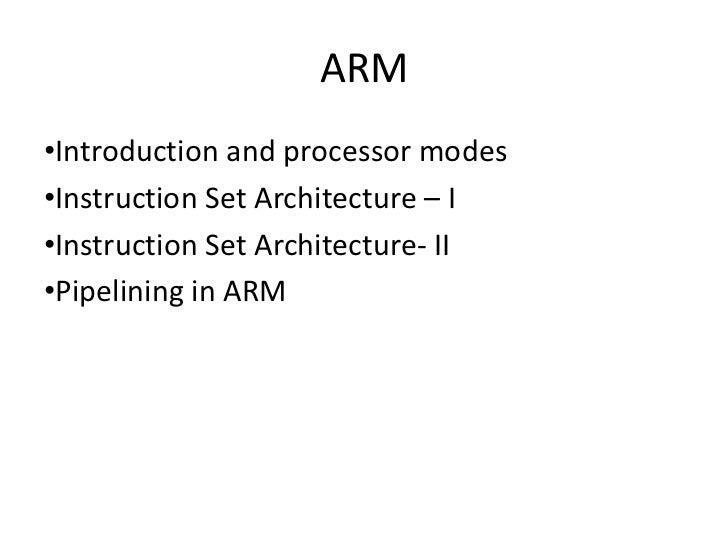 ARM Processor Slide 2