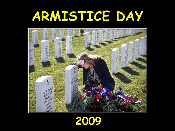 ARMISTICE DAY 2009
