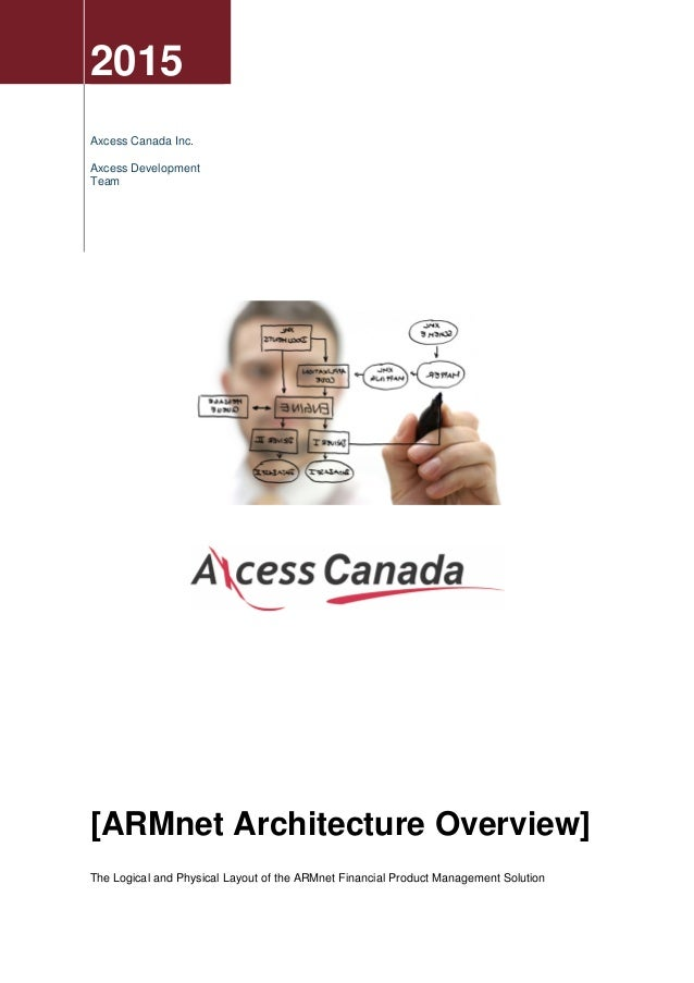 2015 Axcess Canada Inc. Axcess Development Team [ARMnet Architecture Overview] The Logical and Physical Layout of the ARMn...