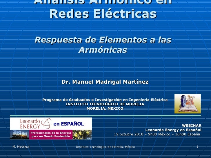 Armónicas de la red eléctrica - Respuesta de elementos