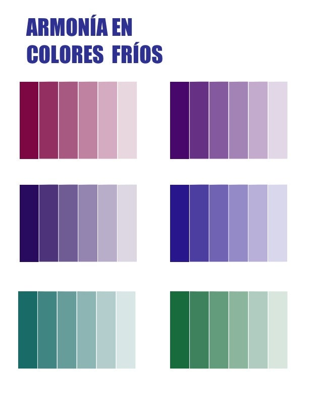 Colores Fros. La Manada Colores Frios With Colores Fros. Interesting ...