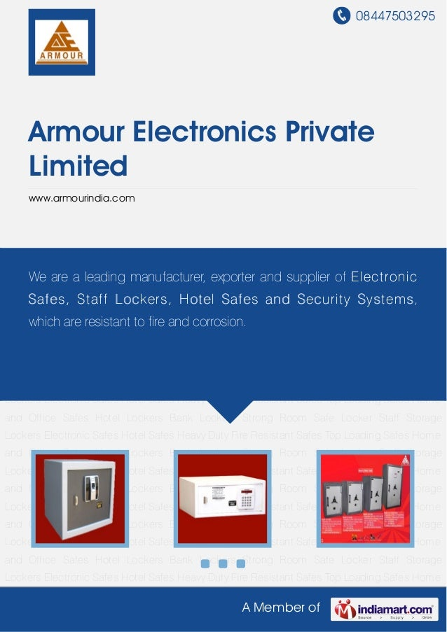 08447503295A Member ofArmour Electronics PrivateLimitedwww.armourindia.comElectronic Safes Hotel Safes Heavy Duty Fire Res...