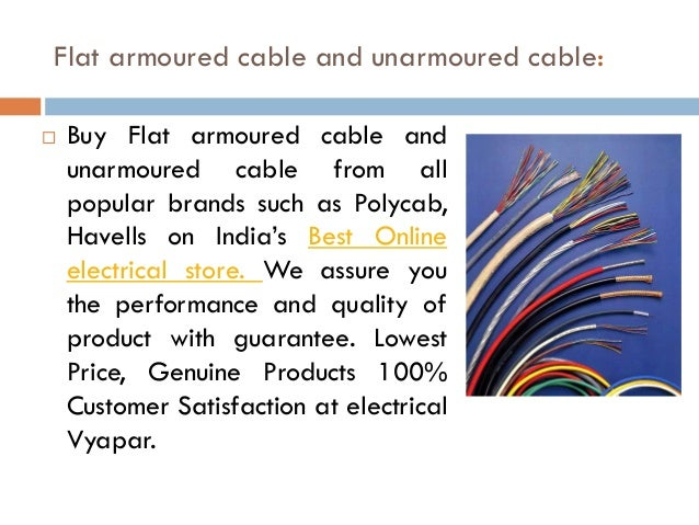 Buy Flat Armoured /Unarmoured Cables and speaker wire online