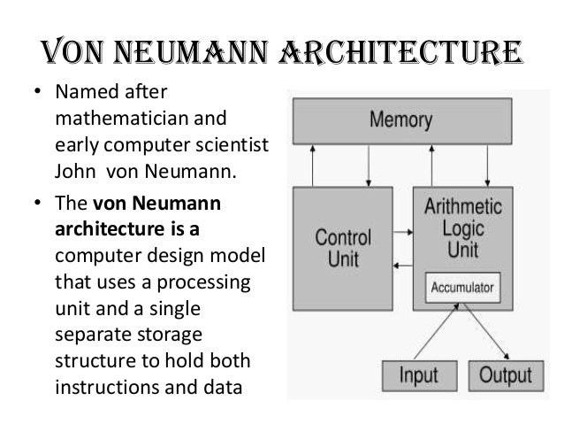 Captivating Architecturalsimplicity; 11. Von Neumann Architectureu2022 ...