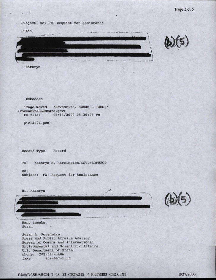 Pae3 of 5  Subject: Re: 7W: Request for Assistance  Susan,             image             oved     povenmitre, Susan L (OsS...