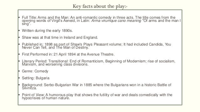 arms and the man as shavian play Explore shavian text  arms and the man - page 2 the play arms and the man, one of bernard shaw's earliest plays written when he was 38 years old, was first .