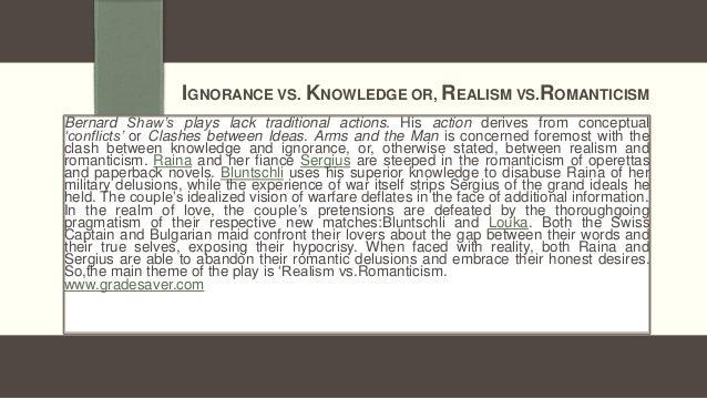 Romantic Idealism Versus Realism in Shaw's