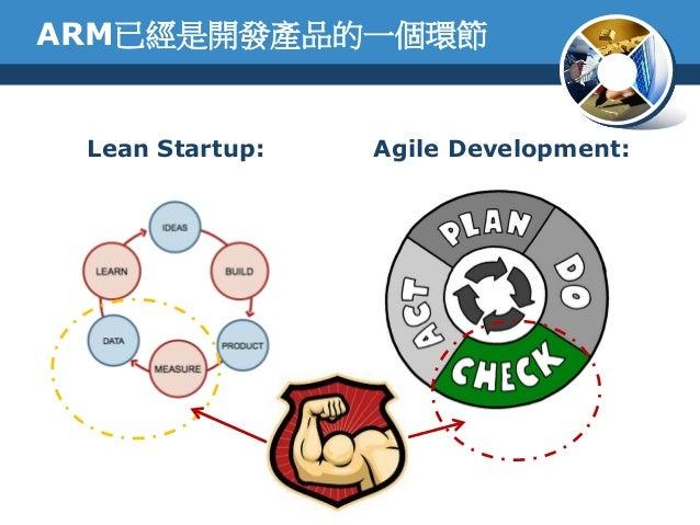ARM已經是開發產品的一個環節Lean Startup: Agile Development: