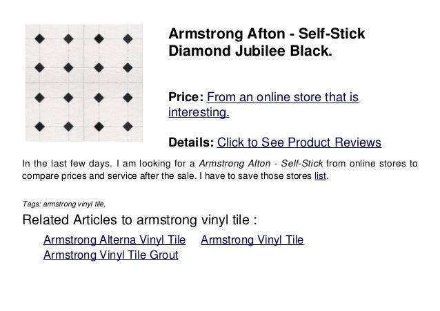 White Vinyl Flooring Armstrong Afton Self-Stick Diamond Jubilee Black