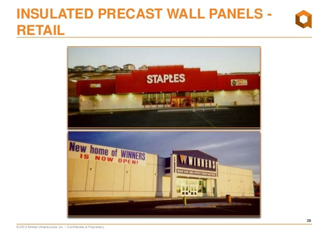 proprietary 28 28 insulated precast wall panels