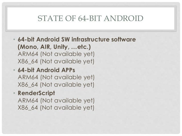 Arm v8 instruction overview android 64 bit briefing