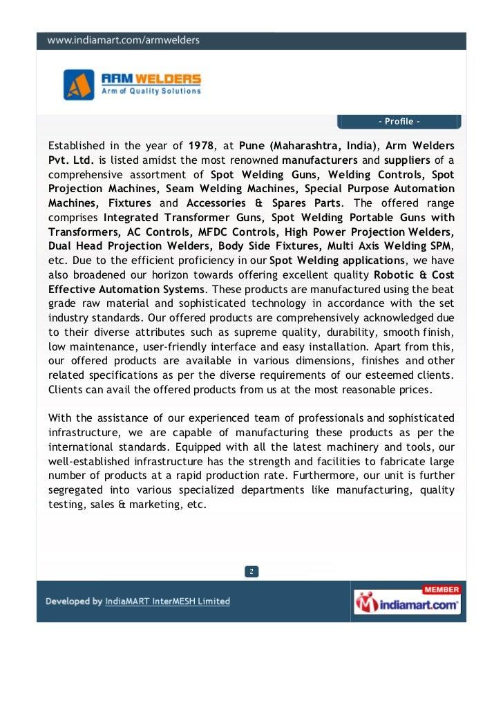 Arm Welders Pvt. Ltd., Pune, Seam Welding Machines Slide 2