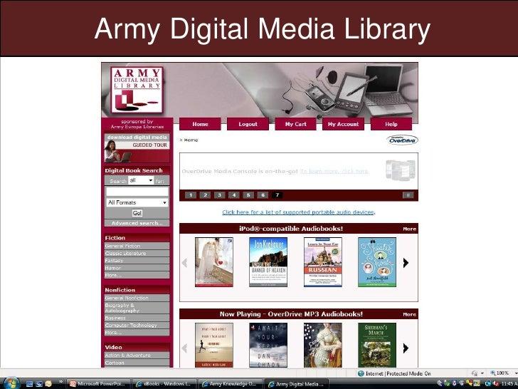 Army Digital Media Library<br />