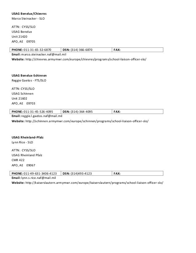 army email format