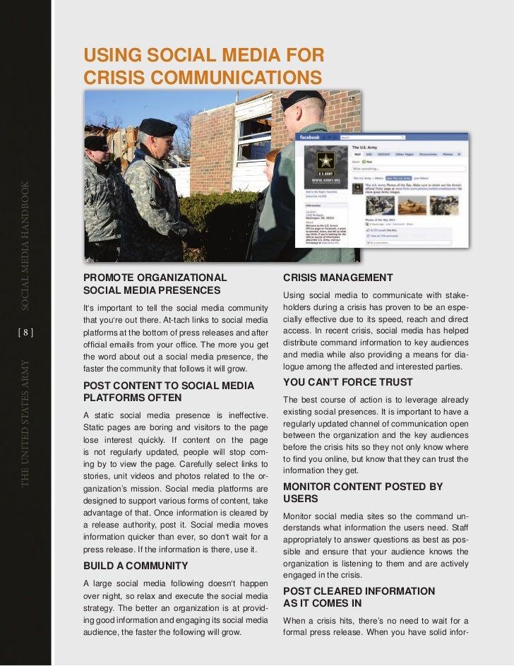 usinG sociAl mEDiA foR                         cRisis communicATionsSocial media handbook                         PRomoTE ...