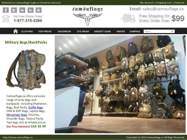 Army Surplus Outdoor & Tactical Gear - Camouflage ca