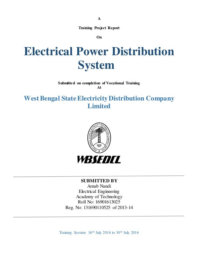 Electrical Power Distribution System (ArnabNandi_WBSEDCL)