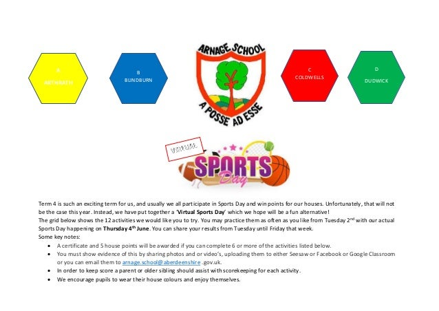 Term 4 is such an exciting term for us, and usually we all participate in Sports Day and win points for our houses. Unfort...