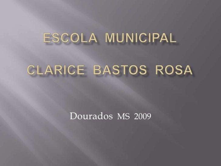 Escola  Municipal Clarice  Bastos  Rosa<br />Dourados  MS  2009<br />