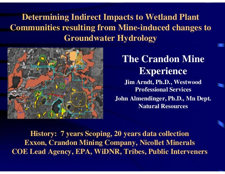 Determining Indirect Impacts to Wetland PlantCommunities resulting from Mine-induced changes to             Groundwater Hy...