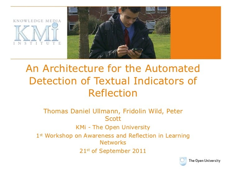 An Architecture for the Automated Detection of Textual Indicators of Reflection Thomas Daniel Ullmann, Fridolin Wild, Pete...