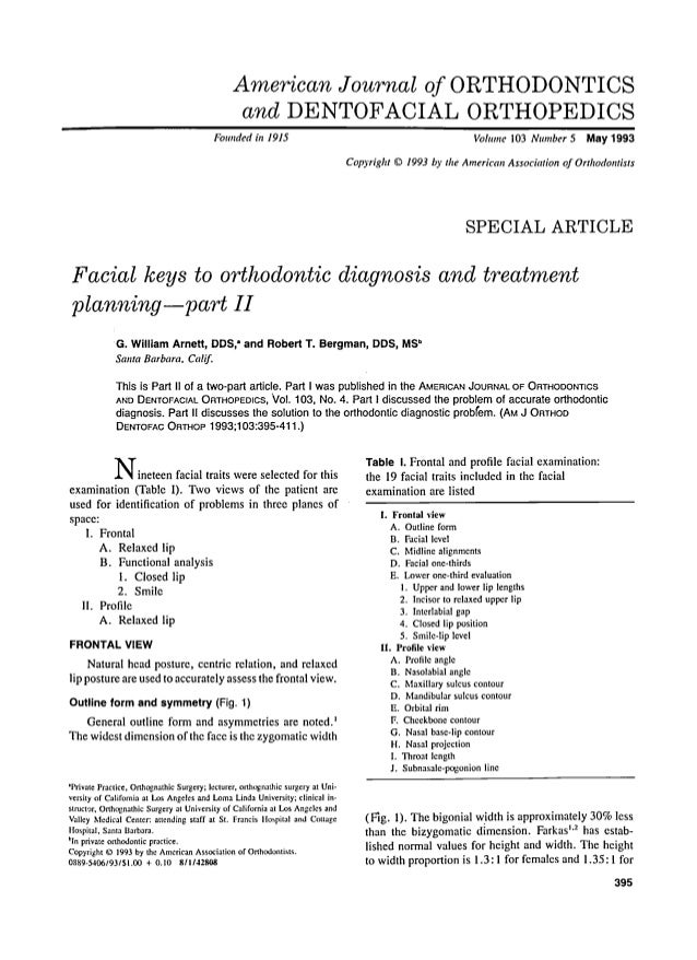 American Journal of ORTHODONTICS and DENTOFACIAL ORTHOPEDICS Founded in 1915  Volume 103 Number 5  May 1993  Copyright 9 1...
