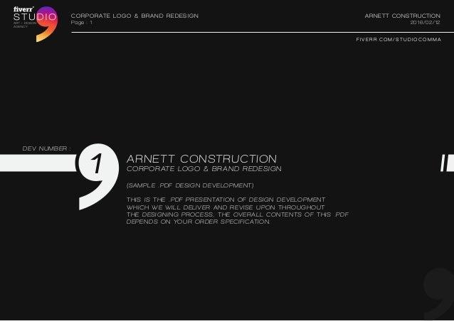 CORPORATE Logo Brand Redesign Arnett Construction 2016 02 12Page 1 F I V E R
