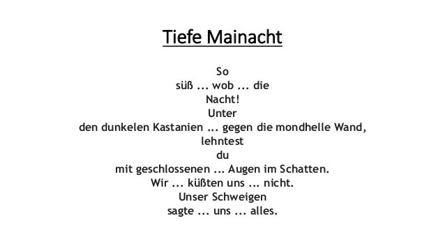 Arno Holz Tiefe Mainacht Präsentation