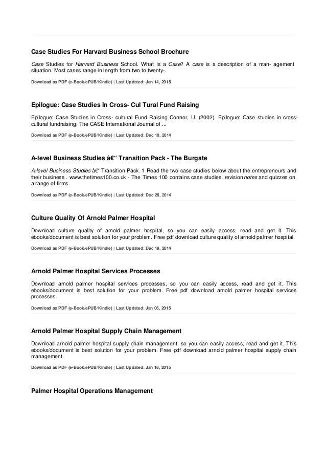 Harvard business case studies pdf dolapgnetband harvard business case studies pdf arnold palmer hospital case studies harvard business case studies pdf fandeluxe Images