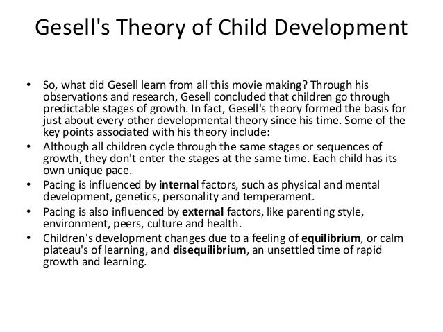 theories of physical development