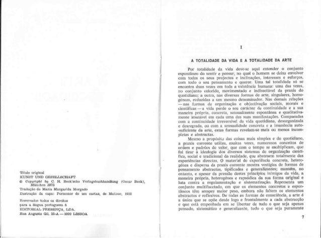 Arnold Hauser A Arte E A Sociedade Part 1