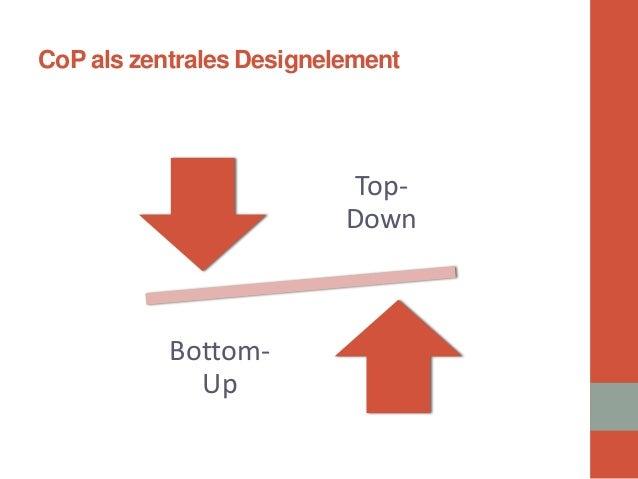 CoP als zentrales Designelement  Top- Down  Bottom- Up