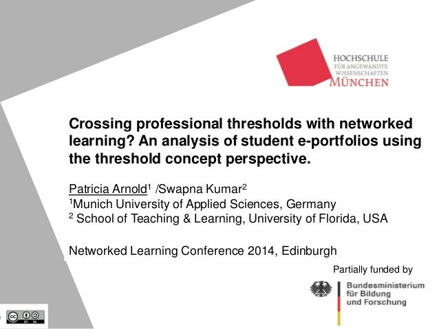 Crossing professional thresholds with networked learning? An analysis of student e-portfolios using the threshold concept ...