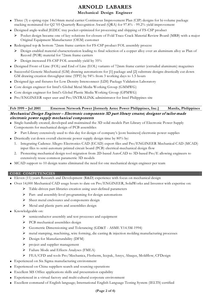 Cad Design Engineer Sample Resume Resume Cv Cover Letter