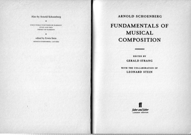 arnold schoenberg fundamentals of musical composition pdf