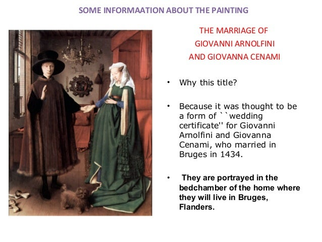 marriage of giovanni arnolfini