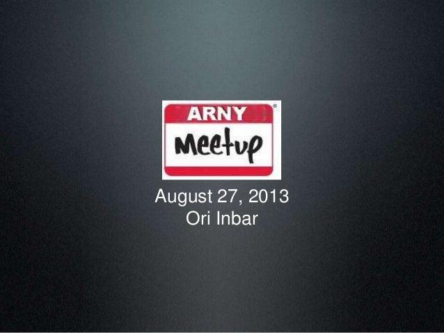ARNY August 27, 2013 Ori Inbar
