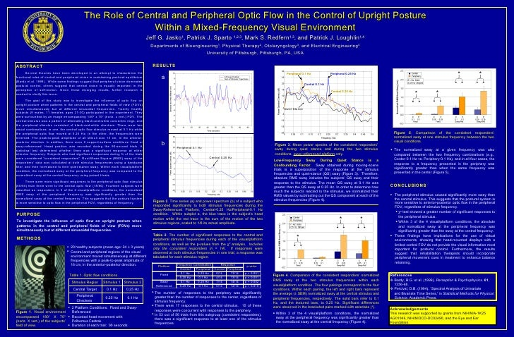 The Role of Central and Peripheral Optic Flow in the Control of Upright Posture Within a Mixed-Frequency Visual Environmen...