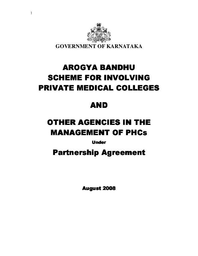 1 GOVERNMENT OF KARNATAKA AROGYA BANDHUAROGYA BANDHUAROGYA BANDHUAROGYA BANDHU SCHEME FOR INVOLVINGSCHEME FOR INVOLVINGSCH...