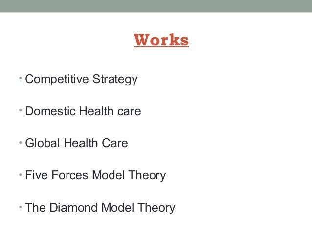 porters five forces model in the health care industry with references Assessing the power of porter's diamond model in the  assignment on porter's five forces model wrt health care industry  porter's five forces .