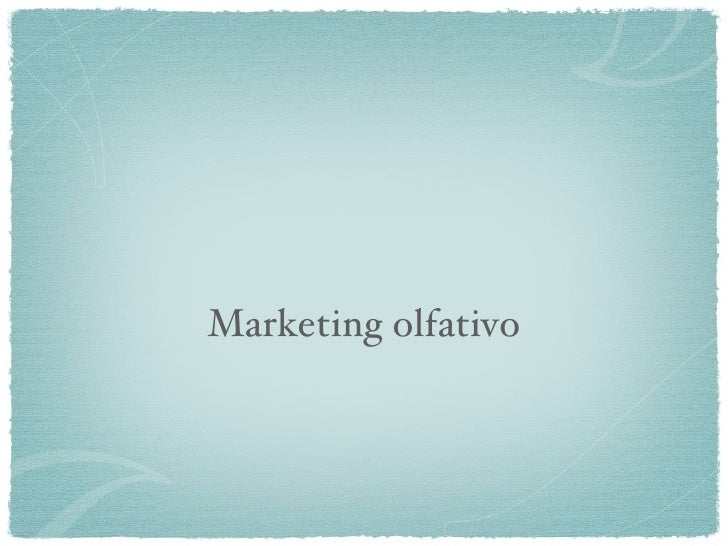 Marketing olfativo