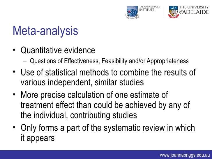 meta analysis research paper master program