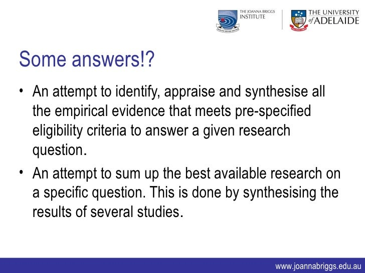 synthesising qualitative and quantitative Evaluation and synthesis of studies using qualitative methods of analysis 7 quantitative research qualitative research approach • reductionist.