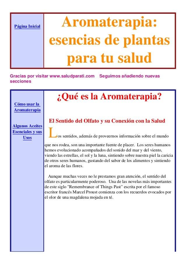 AROMATERAPIA PLANTAS MEDICINALES PDF