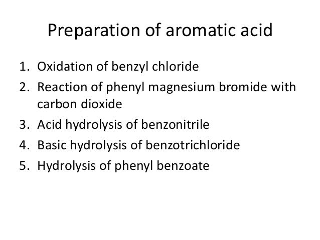 Chemistry of Aromatic acid